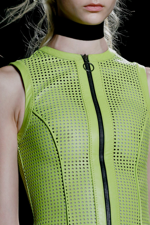 Perforated and laser-cut pieces, like this Proenza Schouler look, dominated the Spring runways.  Image via Style.com