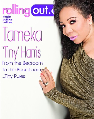 "Tameka ""Tiny"" Harris for the latest issue of Rolling Out Magazine"