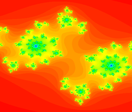 Julia set fractal done by me in Scratch.
