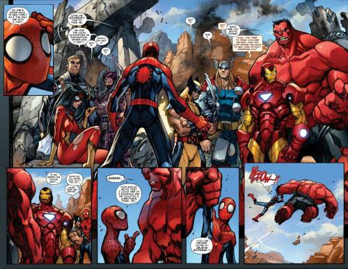 spidey will never ask a ride again from red hulk  …i could web a backpack and we could do a luke/yoda thing, or… …you can pretend you're my abusive boyfriend...?
