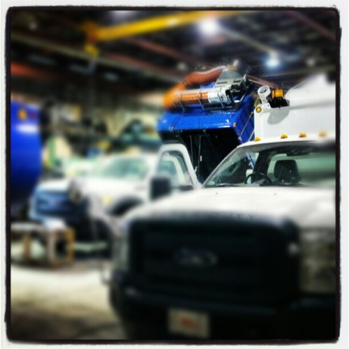 Checkin' out production status on some #collection trucks in the shop @ work… #manufacturing #waste #recycling #equipment #ilovemyjob