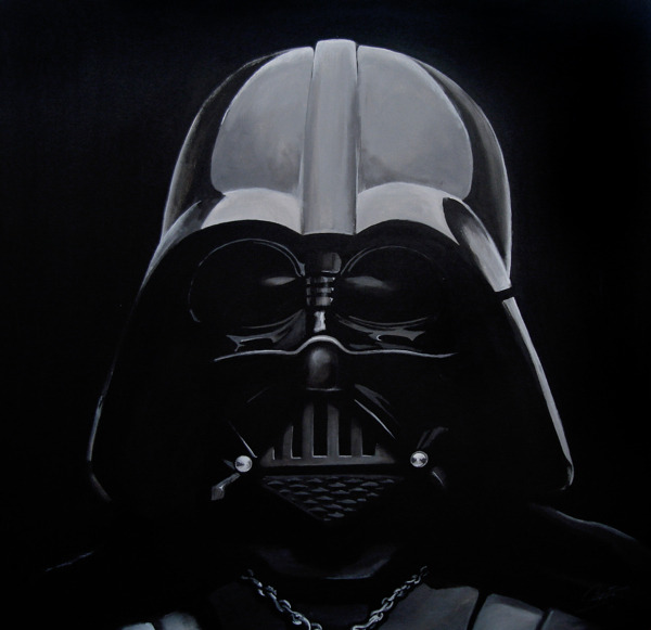 just-art:  Star Wars Portraits by Diego SalasAcrylic on Canvas. 80 x 80cm.