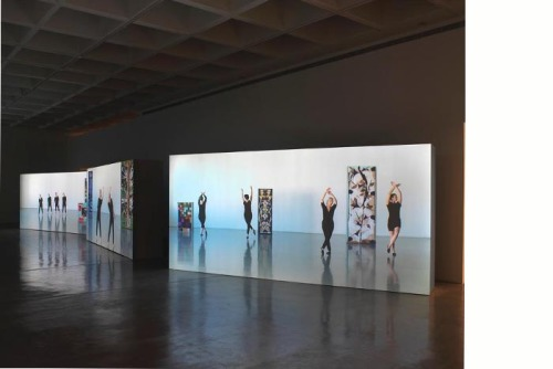 Installation view of exhibition at The Israel Museum, Jerusalem, showing Sharon Lockhart's Five Dances and Nine Wall Carpets by Noa Eshkol, 2011. Courtesy of Gladstone Gallery, New York and Brussels; Blum & Poe, Los Angeles; and neugerriemschneider, Berlin. Photo: © The Israel Museum, Jerusalem by Oded Löbl Sharon Lockhart | Noa Eshkol will open at the Jewish Museum in New York on November 2, 2012. Conceived by Lockhart as a two-person exhibition with Israeli dance composer, theorist and textile artist Noa Eshkol, the show consists of large-scale five-channel film installations, a series of photographs by Lockhart and a selection of drawings, scores and carpets by Eshkol. This stunning and engaging exhibition was previously staged at LACMA and The Israel Museum.   The exhibition will be open through March 24, 2013.