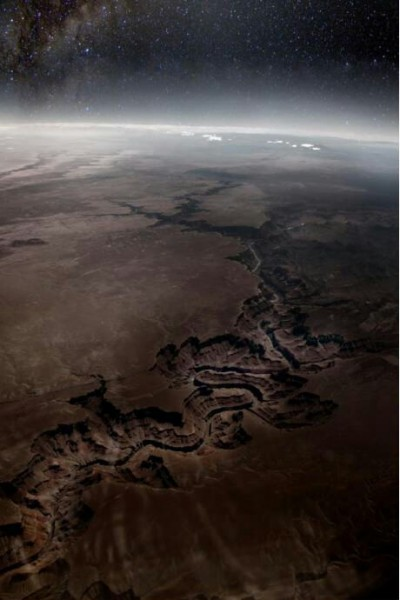 city-of-vultures:  The grand canyon from outer space.