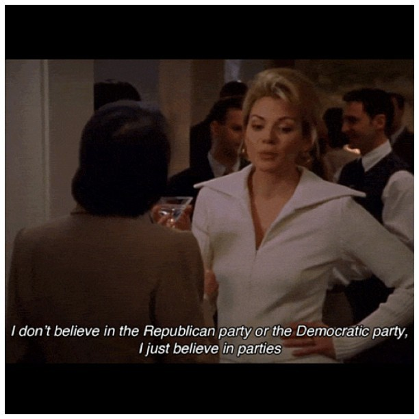 """I just believe in parties!"" #satc #quote #samanthajones #sexandthecity #instagram #quoteoftheday #word #truth #weekend #holiday"