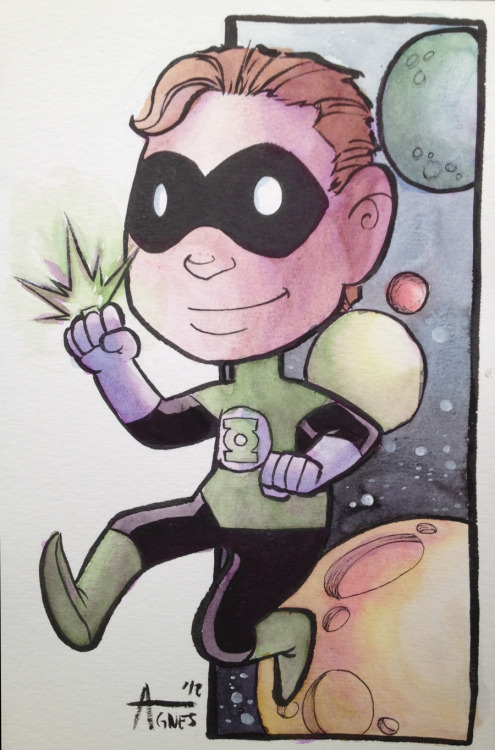 Green Lantern commission painted at NYCC. Enjoy :)