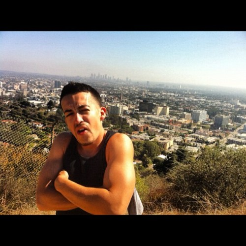 #LA fall 2011 at Runyon Canyon with Jerms B, yelling at people as they run by bein wild. Lol #tbt
