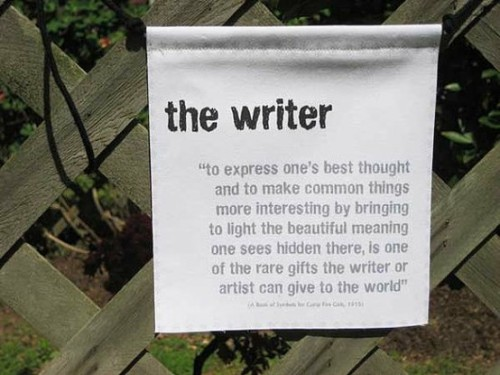 The writer. (via I)