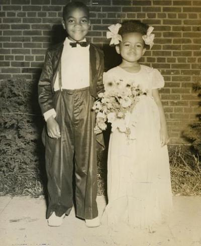 Tom Thumb wedding photographed by Frank R. Jackson, 1943. Smithsonian Archives