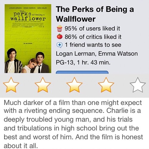 #instareview of Perks of Being a Wallflower (at Alamo Drafthouse Cinema – South Lamar)