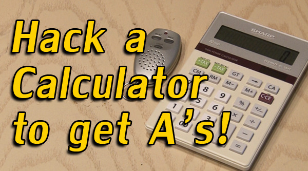 KipKay shows you how to hack together a calculator and voice recorder to do better in class. If you get pulled into detention though, it wasn't us… use at your own risk! WATCH NOW ON BLIP: Hack a Calculator to Get A's!