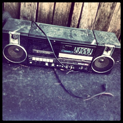 Boom box covered in dirt #found #rubbish #boombox #instafag