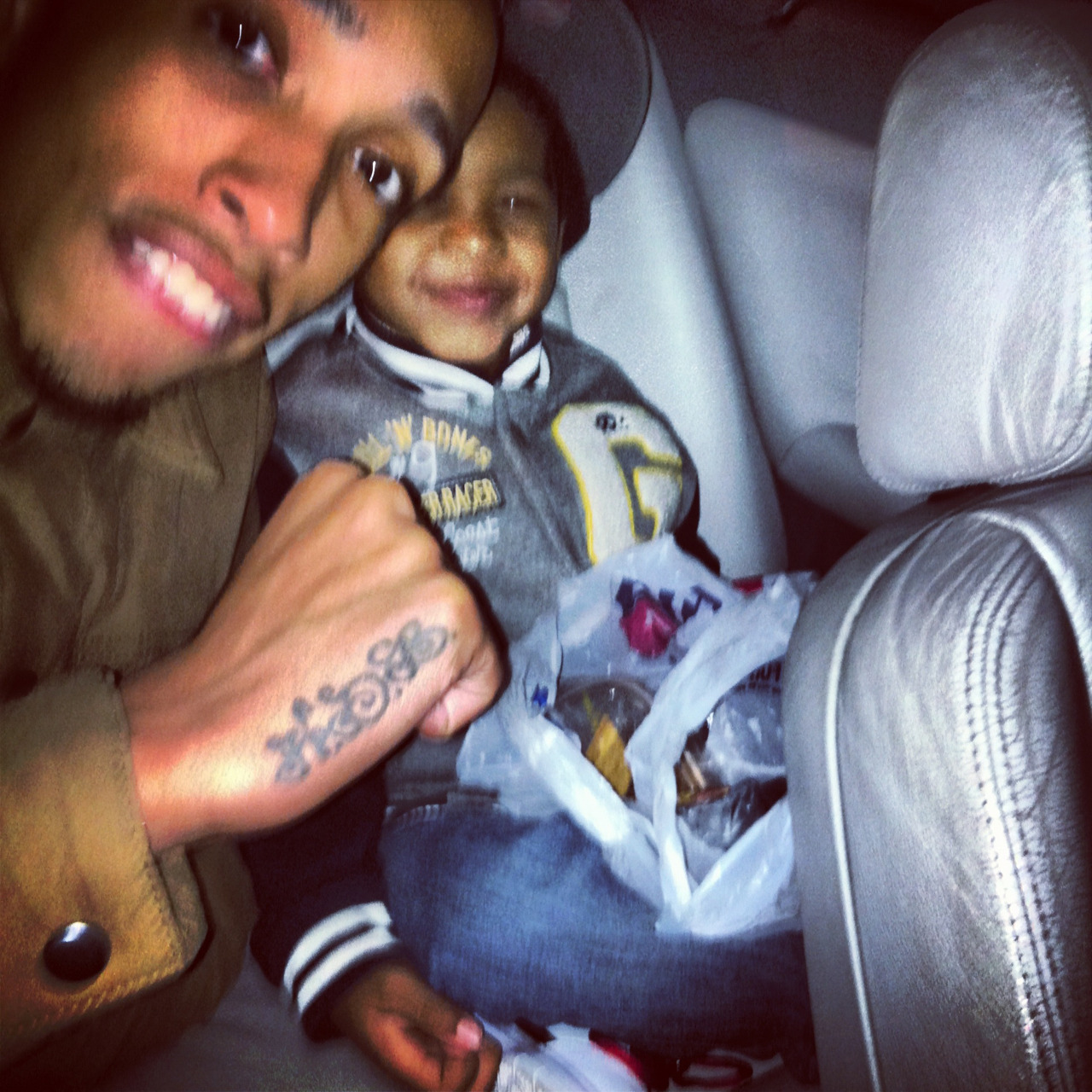 Me & the Lil homie….just ridin , just ridin !