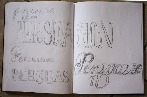 sjcreative:  Preliminary sketches for another Jane Austen title—Persuasion.