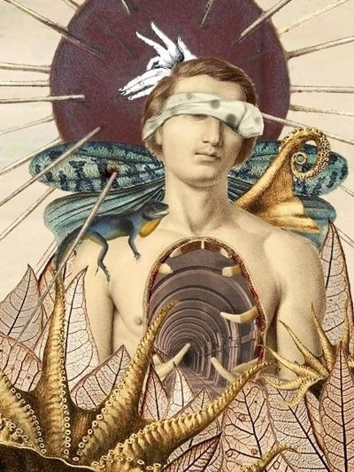 surrealism:  The Morning Star by John Clowder, 2008. Collage.