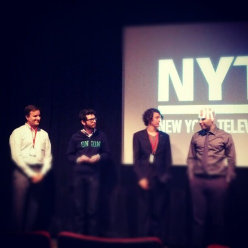 @matthewkhobby and @totallymorgan doing their thing at #nytff