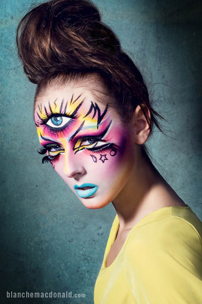 Cool third eye makeup by Blanche Macdonald's Jenna Kuchera!