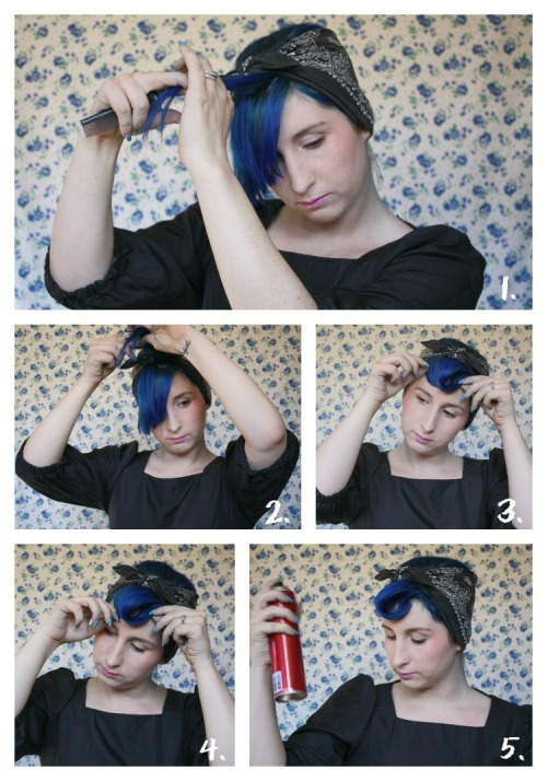 How to Suicide Roll Bangs: Guest Post Tutorial by Jessa! | Brighter Sides