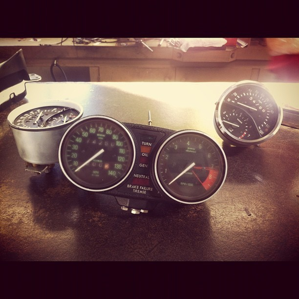 BMW Speedometers being serviced. #bavariancafe #bmwcaferacer #bmw #cafe #racer #speedometer #restoration #bavarian