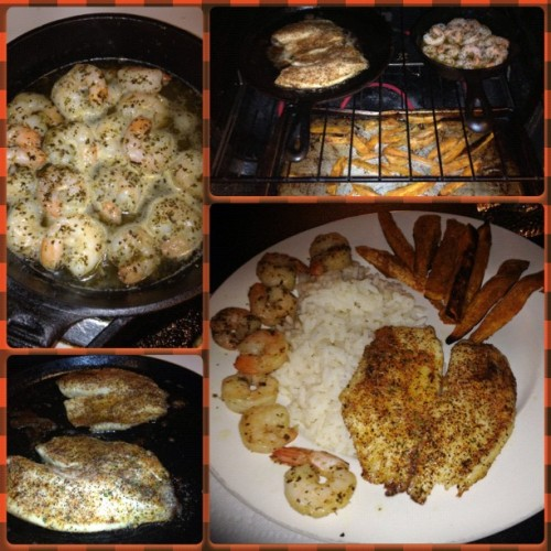 Love when dinner comes together just in time for #TNF #BonAppetit 🍴💋