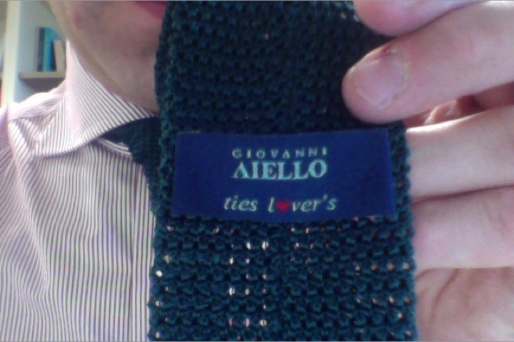 The people at Aiello certainly love ties. If only they were equally fond of English grammar…
