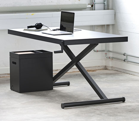 Kibsi - Height Adjust X table http://www.kibisi.com/projects/the-xtable