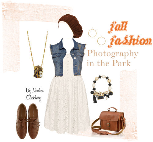Fall Fashion- Photography in the park by nardeenelsokkary featuring gold bead earrings