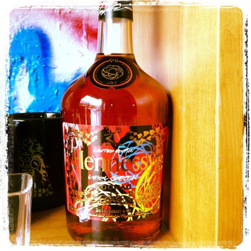 #futura #hennessy art bottle #art and yack