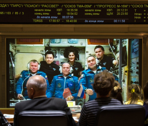Three new very happy crew members joined the ISS this morning. This makes Oleg Novitsky the third Belarusian in space, after Pyotr Klimuk and Vladimir Kovalyonok. If you want to hear all the greetings to the new crew the video is here. (Source)