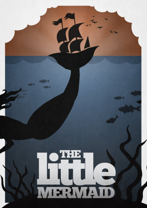 Disney's The Little Mermaid Minimalist Poster by rowansm on Etsy