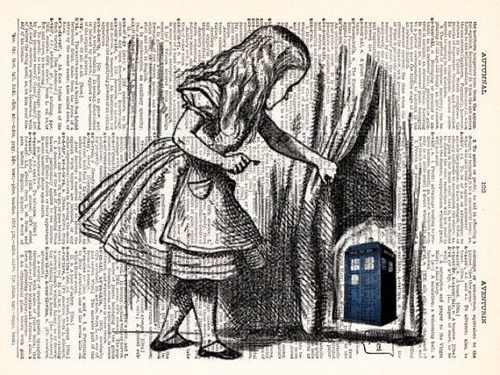 TARDIS x Alice in Wonderland fanart