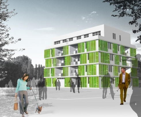 "World's First ""Living Building"" Uses Algae to Provide Energy and Shade Chris Milton, cleantechnica.com The world's first ever ""liv­ing build­ing"" has start­ed con­struc­tion in Ger­many. Known as the BIQ build­ing, it uses move­able pan­els of micro-algae to gen­er­ate heat, shade, and ener­gy.These pan­els are designed to be retro­fit­ted onto …"
