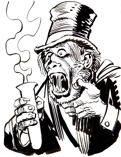 Mr. Hyde sketch by Jack Davis
