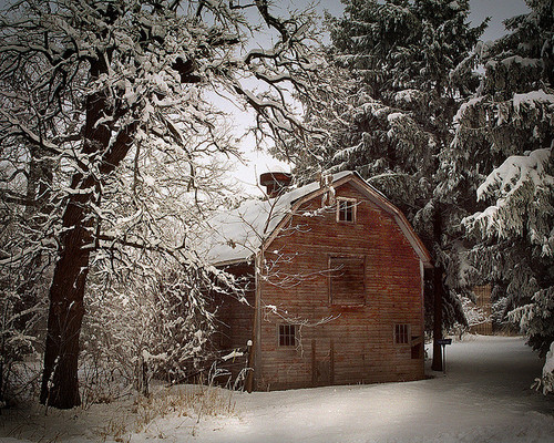 Red barn…winter
