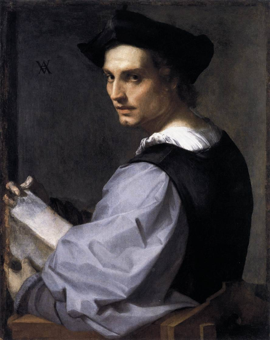 1. Andrea del Sarto Portrait of a Young Man c. 1517, oil on canvas, National Gallery, London