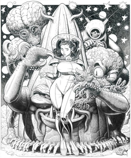 Retro Alien Love by Art Adams