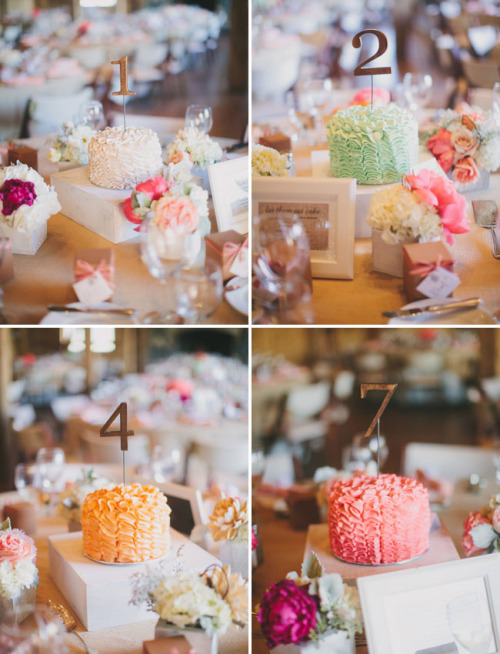 Table number cake ideas…
