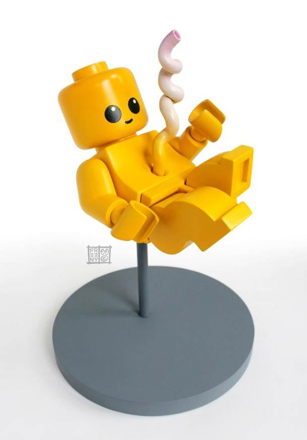 """LEGO Fetus"" a new sculpture by artist Jason Freeny I love me some LEGOs"