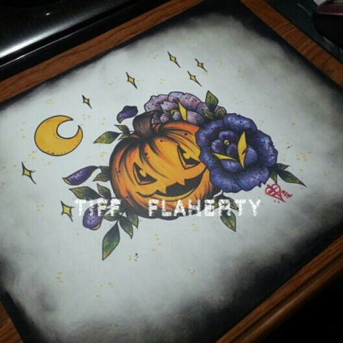 Done, but not happy with it. #copicmarkers #Halloween #pumpkin