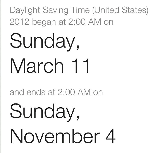 Daylight saving time. #PSA