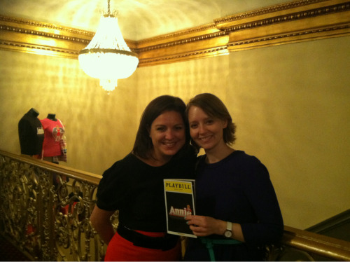 Katie & Lindsay Take Broadway!  Annie on Broadway- 30 Years After We First Saw the Movie Together