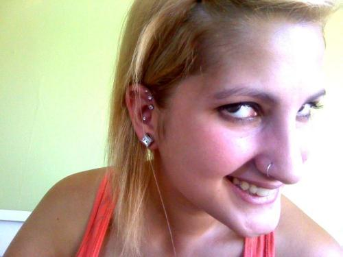 Name: Courtney Age: 19 City: Bellingham, WA Piercings Shown: Triple Helix (14g), Conch (14g), nose & lobes. Piercings Not Shown: Industrial & Bellybutton Retired Piercings: none Submitted By [http://paintitcolorful.tumblr.com/]