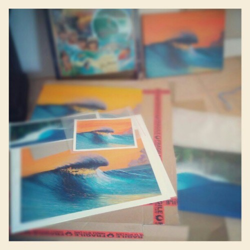 A few prints and an original off to new homes! Buy surf art from my website www.scottdenholm.com