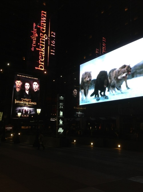 Breaking Dawn - Part 2 outdoor display at LA Live!