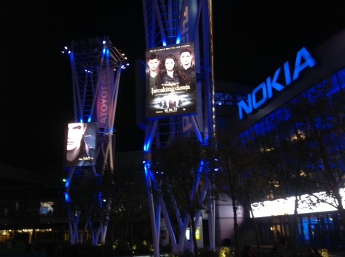 The Nokia Theatre is getting ready for the Breaking Dawn - Part 2 world premiere! #camptwilight