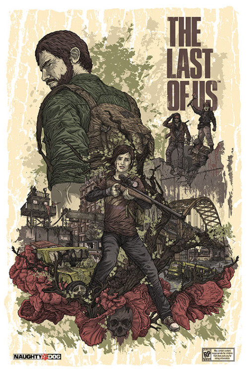 "gamefreaksnz:  TLOU PAX Poster Print 11""x17""""The Last of Us"" PosterSigned Limited Edition These promotional posters were commissioned by Sony PlayStation & Naughty Dog Studios to promote the upcoming video game ""The Last of Us"". $24 (+ship) A massive thank you to Alex who was kind enough to sendme one of these. It literally made my day.  Uuugghh I can't wait to get my hands on this game, really looking forward to Beyond: Two Souls as well."