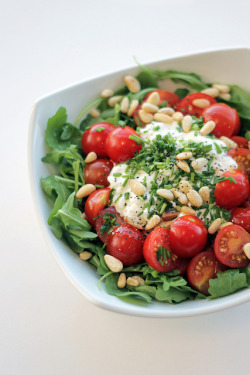 Cottage Cheese, Cherry Tomatoes and Rocket by Salad Pride on Flickr.