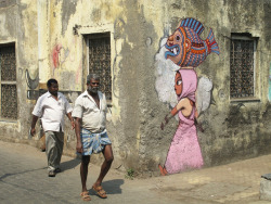 Mumbai, India - artist Julien Malland aka