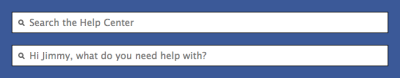 littlebigdetails:  Facebook Help Center - The search box contains a personalized message when you're logged in. /via Jimmy Oliger  Nice.