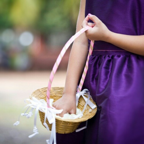 #Flower #Girl #wedding #goa #basket #petals